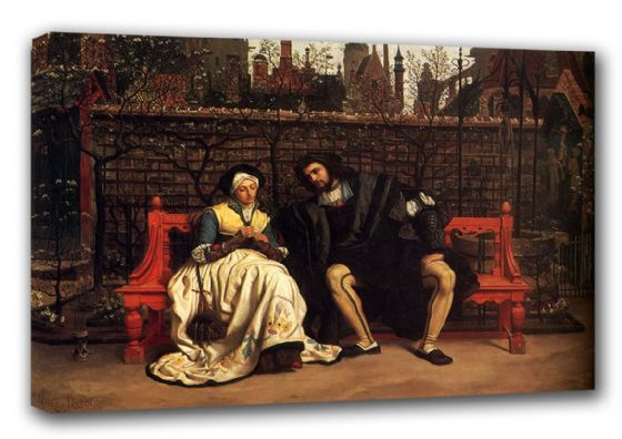 Tissot, James Jacques Joseph: Faust and Marguerite in the Garden. Fine Art Canvas. Sizes: A3/A2/A1 (00136)